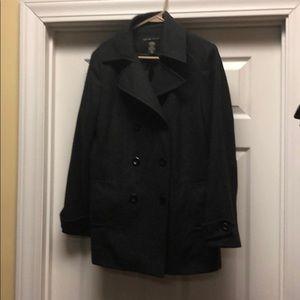 New York & Company Jackets & Coats - ⬇️ sale ⬇️ NY&C Charcoal grey wool pea coat
